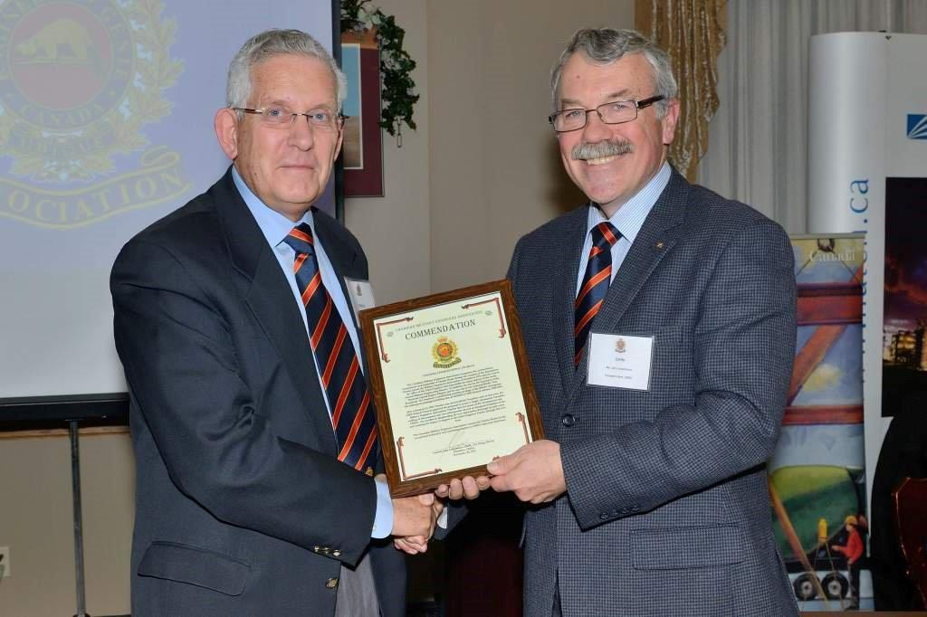 CMEA Commendation - Colonel Charles Keple, CD (Ret'd)