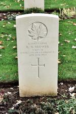 Sapper Brewer's headstone at the Beny-sur-Mer Canadian War Cemetery, located at Reviers, about 4 kilometres from Juno Beach in Normandy, France. May he rest in peace. (J. Stephens 2010)