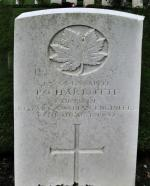 Gravestone for Spr Peter Charbotte in the Dieppe Canadian War Cemetery, Hautot-sur-Mer, France