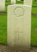 L/Cpl Gage's headstone in Holten Canadian War Cemetery, Netherlands
