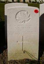 Headstone for Spr Sydney George Oliver in Dieppe Canadian War Cemetery (Hautot-sur-mer) ; Seine-Maritime, France