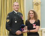 Sgt Dale Kurdziel, MD receives a second Medal of Bravery, 22 November 2017