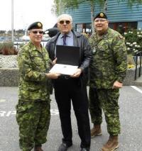 CME Colonel Commandant, BGen Steve Irwin (Ret'd), LCol Doug Foreman (Ret'd) and CME Branch CWO, CWO Ron Swift